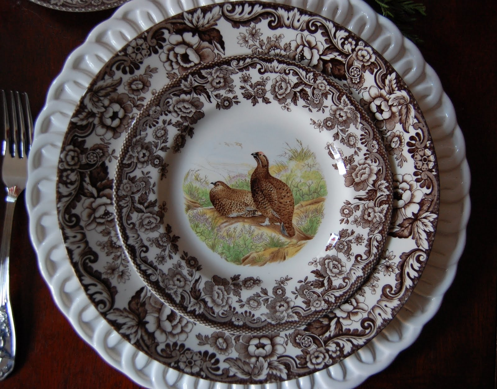 Thanksgiving Table Setting with Spode Woodland China & Thanksgiving Tablescape (Table Setting) with a Woodland Wildlife Theme