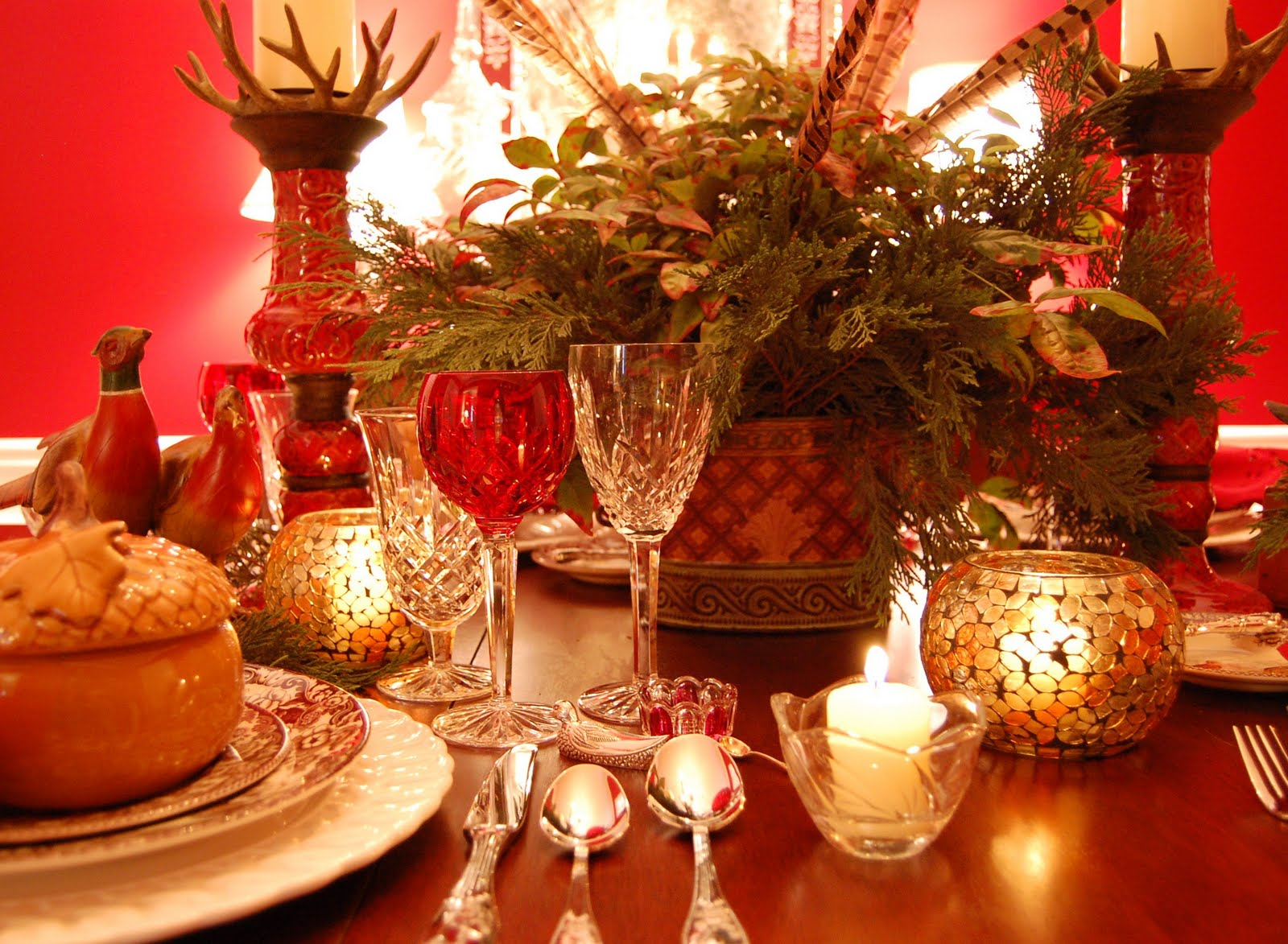 Thanksgiving Tablescape Table Setting With A Woodland