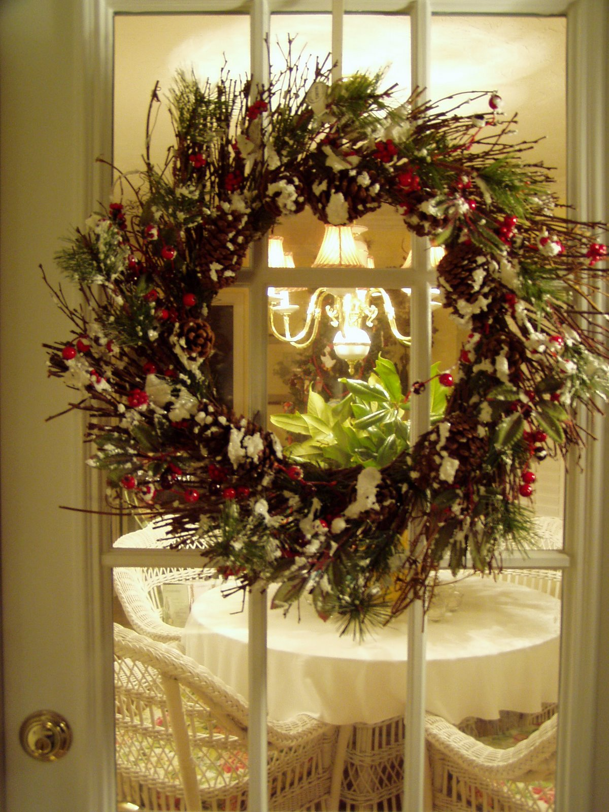 Circular Christmas Decoration For The Front Door