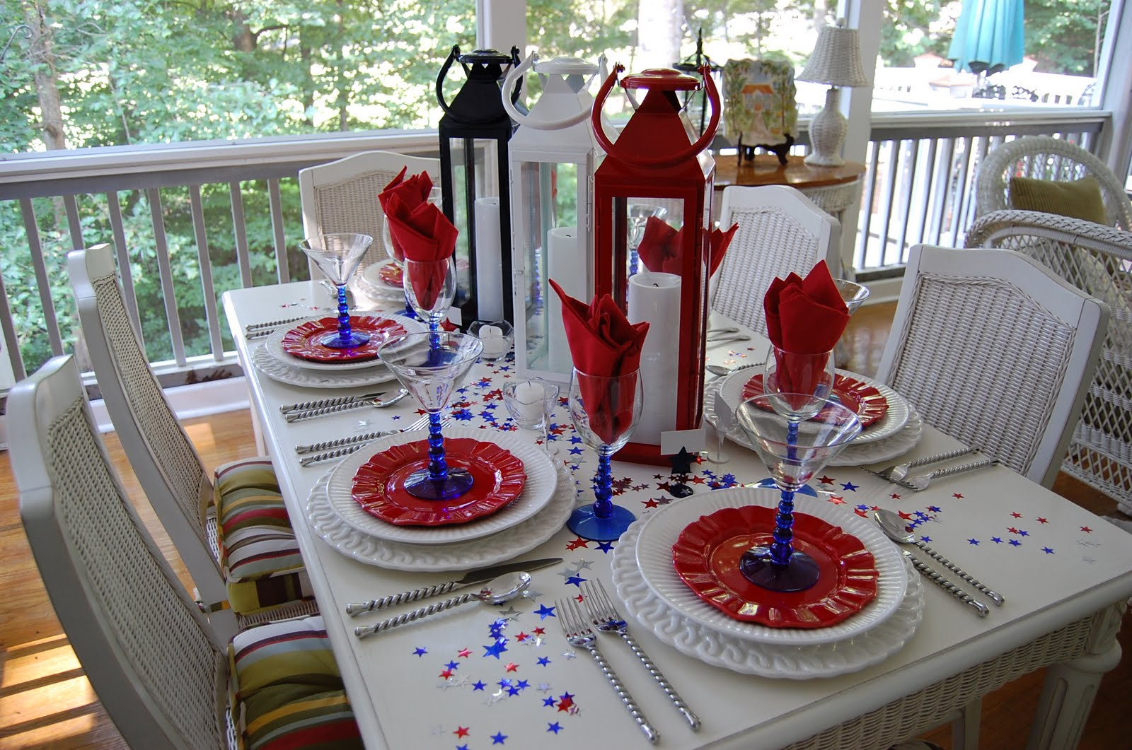 Tablescape for the 4th of july for Decoration 4 july