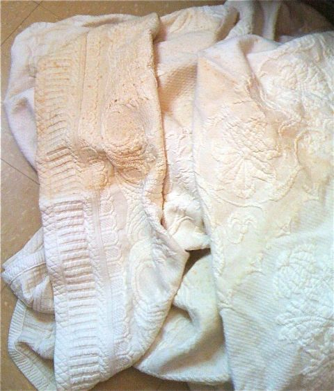 Restoring Vintage Linens Between Naps On The Porch - How To Remove Old White Heat Stains From Tablecloths