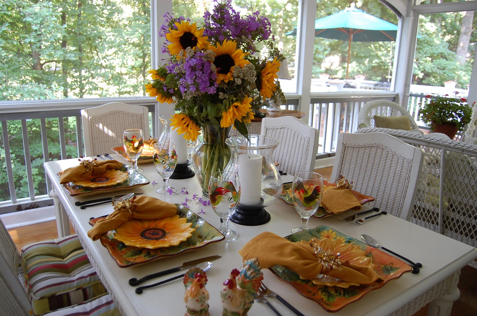 : sunflower table settings - pezcame.com