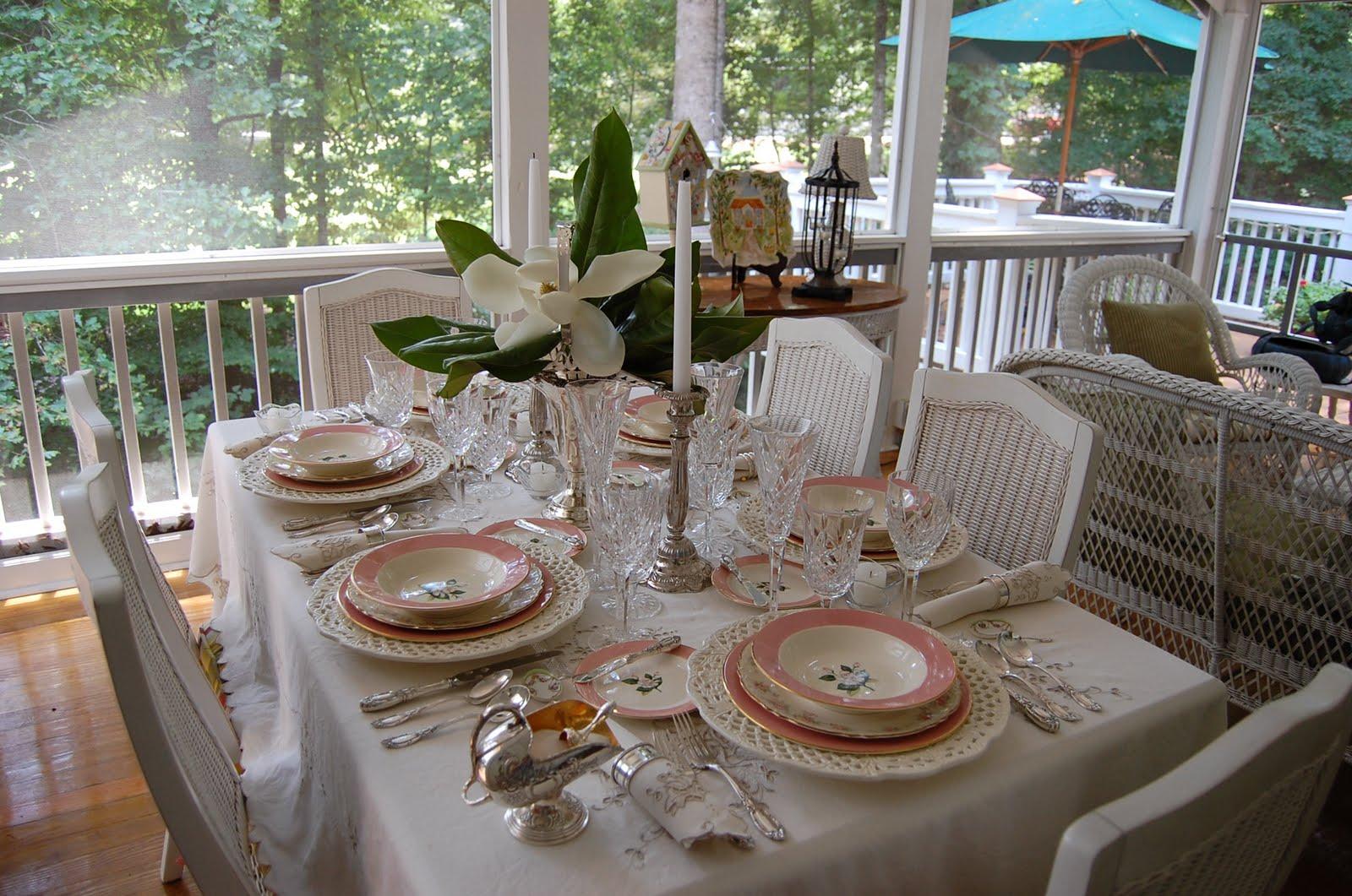 Tablescape Thursday Celebrating 100 Table Settings
