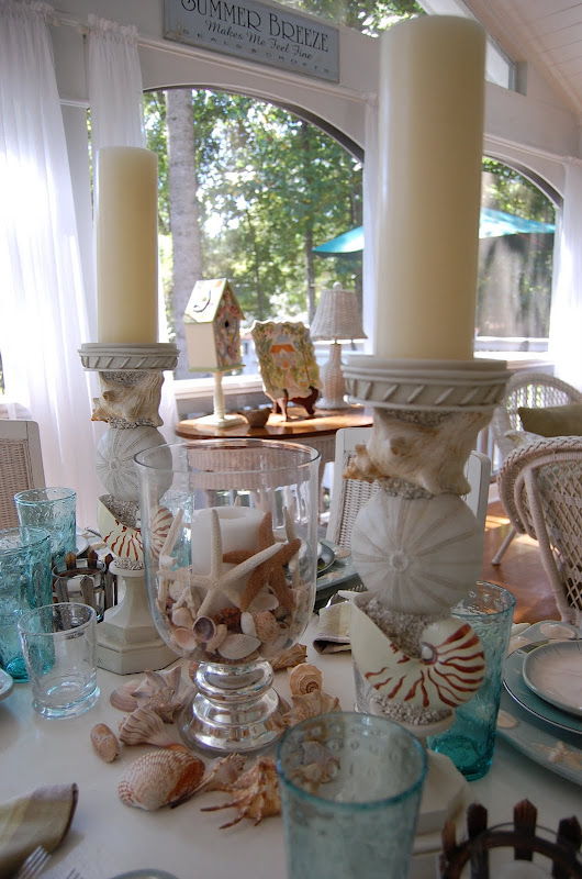 Beach Themed Table Setting Tablescape