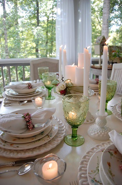 End Of Summer Table Setting On The Porch