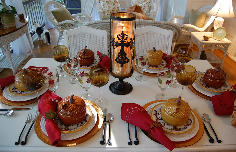 A tablescape to celebrate fall for Dining room tablescapes ideas