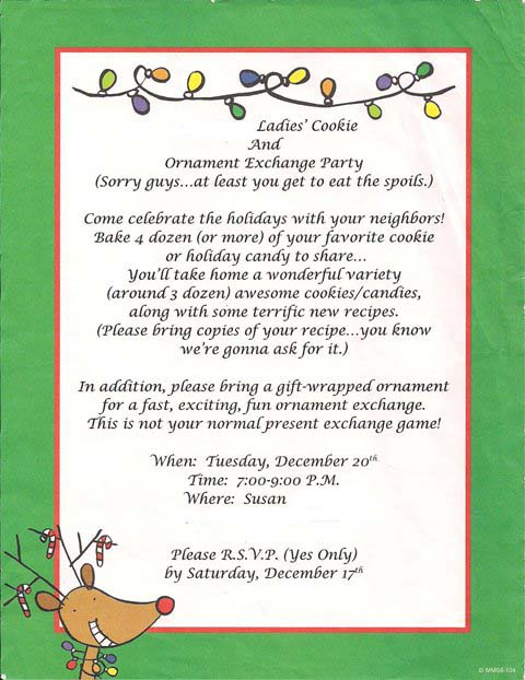 Party Planning Sending Out the Invites – Cookie Party Invitation Wording