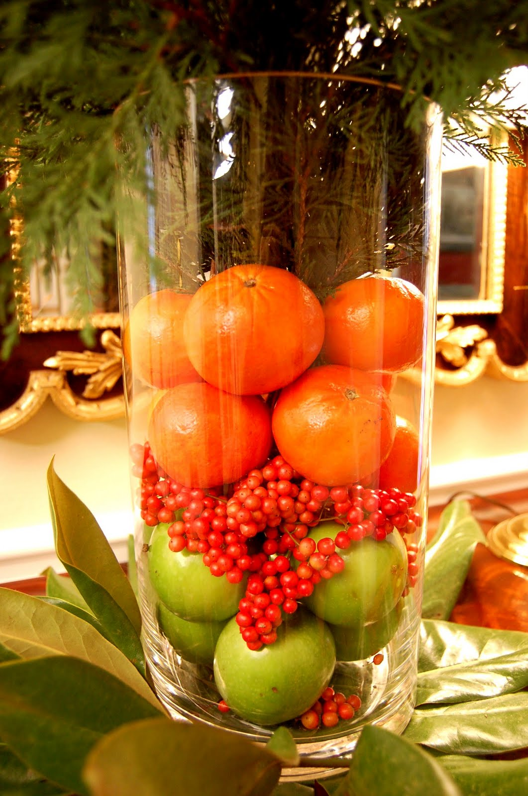 Easy christmas holiday centerpiece make in minutes