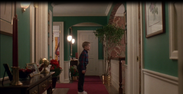 House in Home Alone Movie, Green Walls