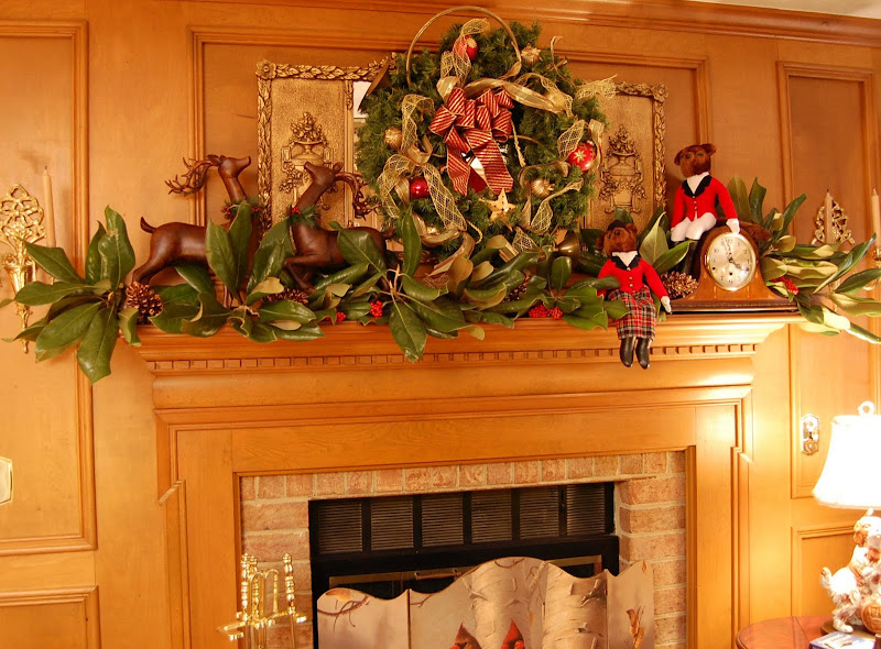 Nature Hunt Themed Christmas Mantel