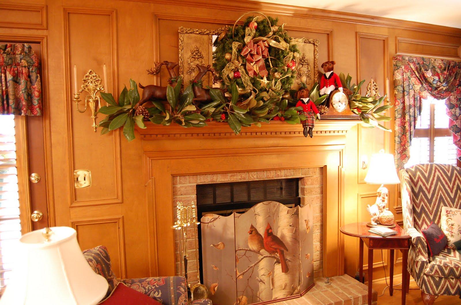 Country christmas mantel decor - Nature Hunt Themed Christmas Mantel