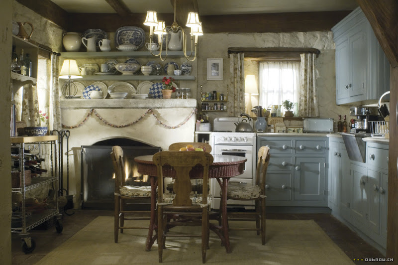 Kitchen in Rosehill Cottage in the movie, The Holiday
