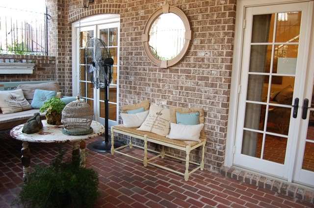 If you walked off the patio/lanai, you would find yourself in the  courtyard. All of this is hidden behind the brick walls you saw in the  beginning of this ...