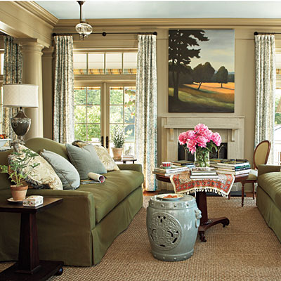 southern living idea house entertainment room sewing