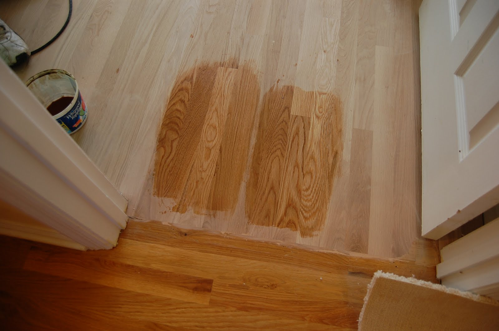 Wood Floor Two Rooms Different Colors 1600 x 1061