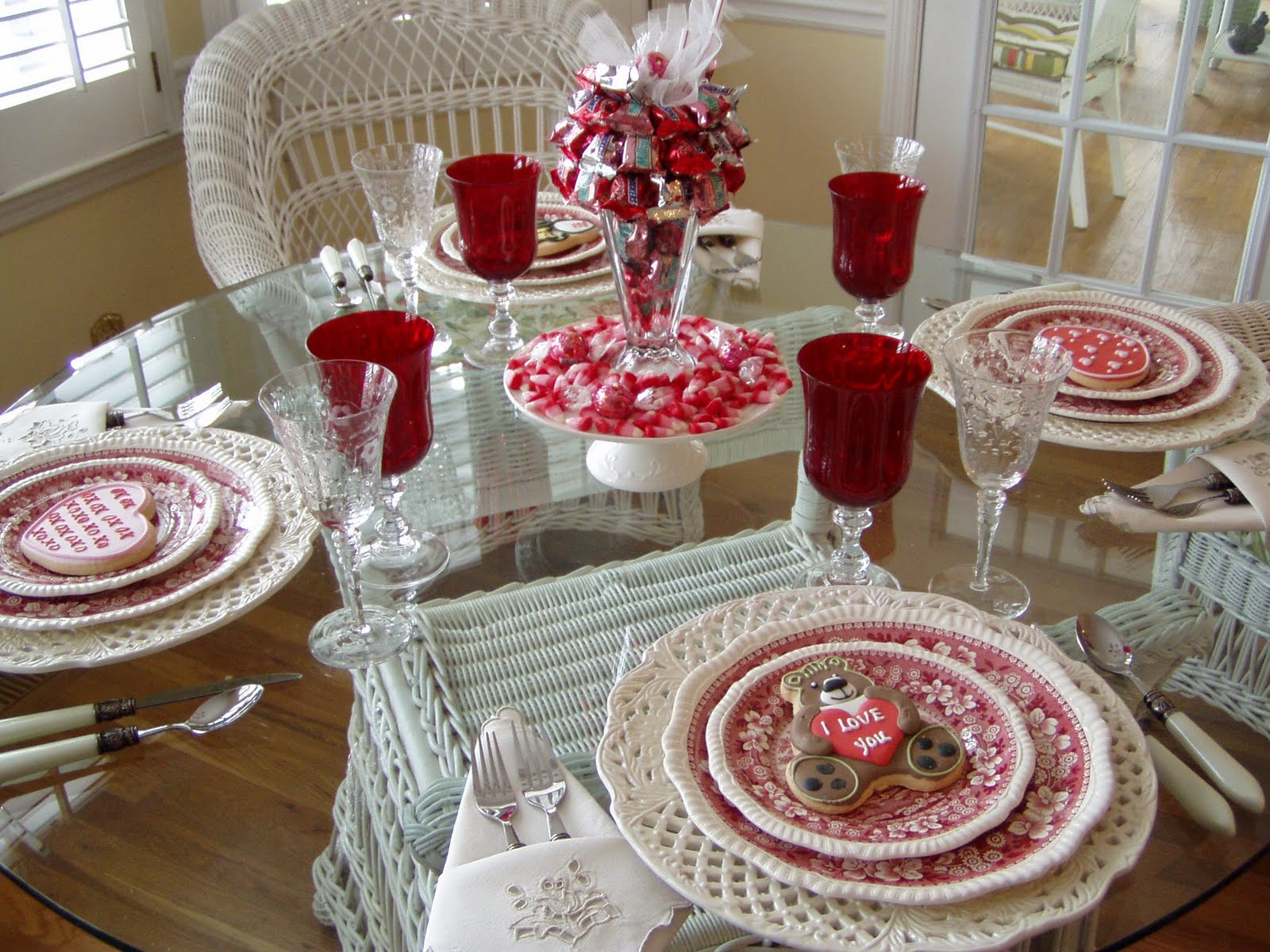 Vintage valentine home decor